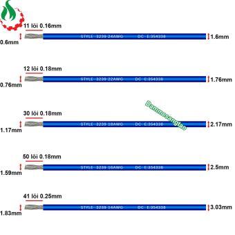 Dây điện chống cháy silicon AWG cao cấp tiêu chuẩn 3239
