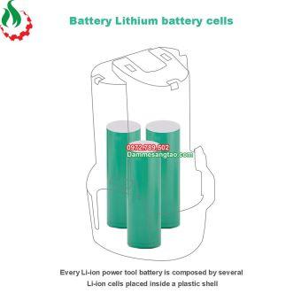 Pin makita 10.8V Li-ion nhận sạc zin