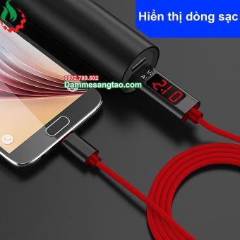 Cáp sạc điện thoại có đèn LED hiển thị Vôn Ampe
