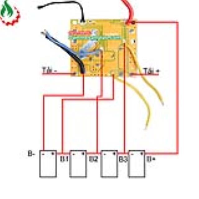 Mạch makita 4S 14.4V - 65A bảo vệ pin Li-ion 3.7V