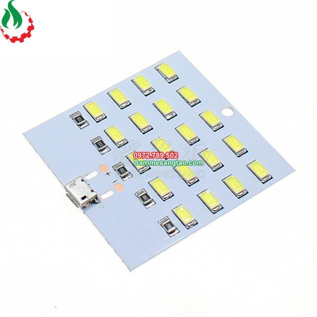 Bảng mạch 20 Led siêu sáng cổng micro Usb