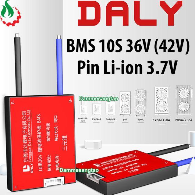 Mạch 10S 36V (42V) Daly bảo vệ pin Li-ion 3.7V xe điện