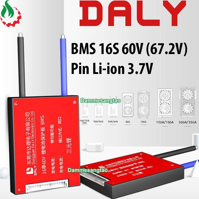 Mạch 16S 60V (67.2V) bảo vệ pin Li-ion 3.7V xe điện