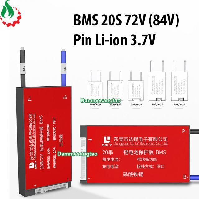 Mạch 20S 72V (84V) Daly bảo vệ pin Li-ion 3.7V